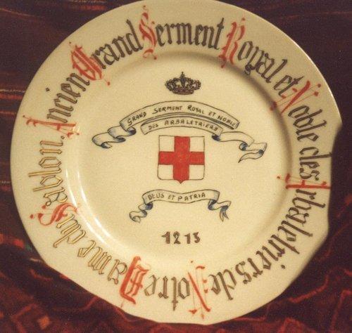 Assiette des Arbalétriers de Notre-Dame du Sablon