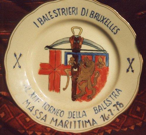 Assiette des Arbalétriers Italiens 1978