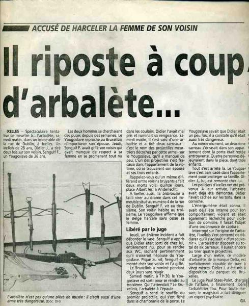 Arbalétrier fou (DH 23 janvier 1996)
