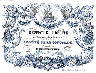 """Carte Porcelaine de la Société """"La Concorde"""""""