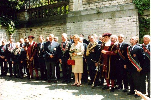 LL.MM.le Roi Albert II et la Reine Paola parmi les Compagnons