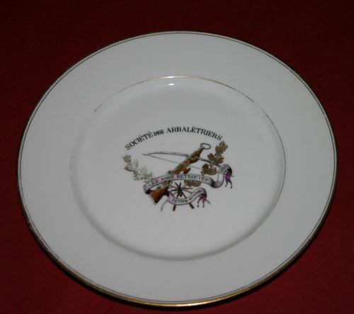 """Assiette Société """"Les Amis Retrouvés"""""""