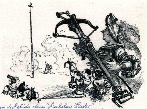 """Arbalétrier de Robida dans le """"Rabelais Illustré"""""""
