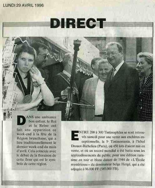 Fête de l'Iris Cinquantenaire 27 avril1996(La Lanterne 29 avril 1996)