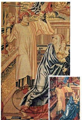 Tapisserie de Tassis ( Fragment partie gauche de la 3ème tapisserie)