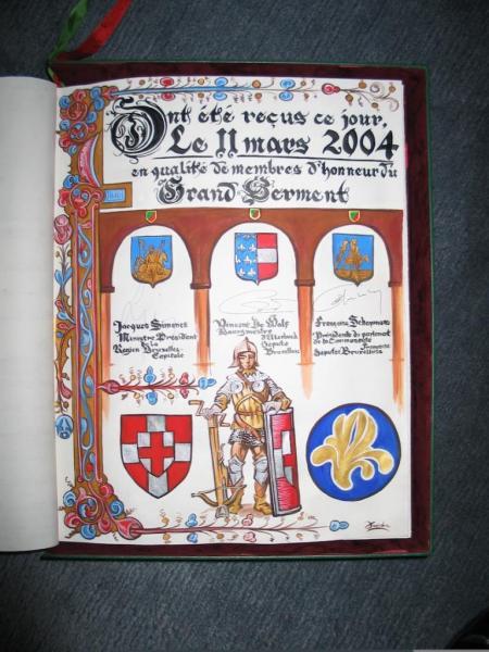 J. SIMONET, V.DE WOLF ,F.SCHEPMANS Membres d'Honneur