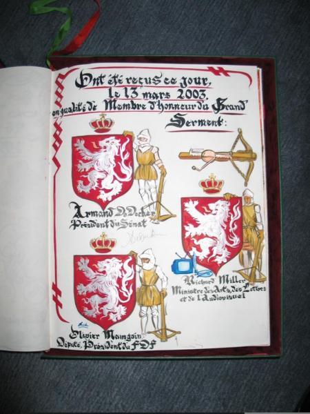 A.DE DECKER, O.Maingain, R.MILLER Membres d'Honneur