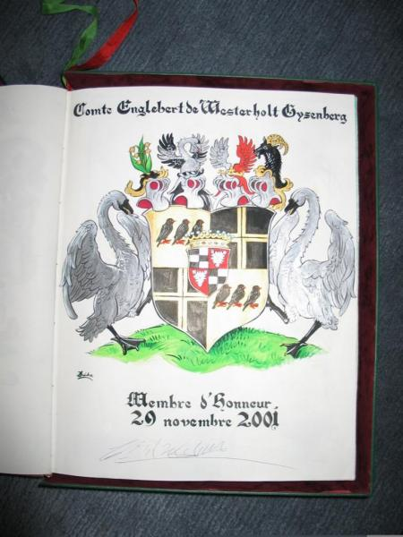 Comte Englebert de Westerholt Gysenberg Membre d'Honneur