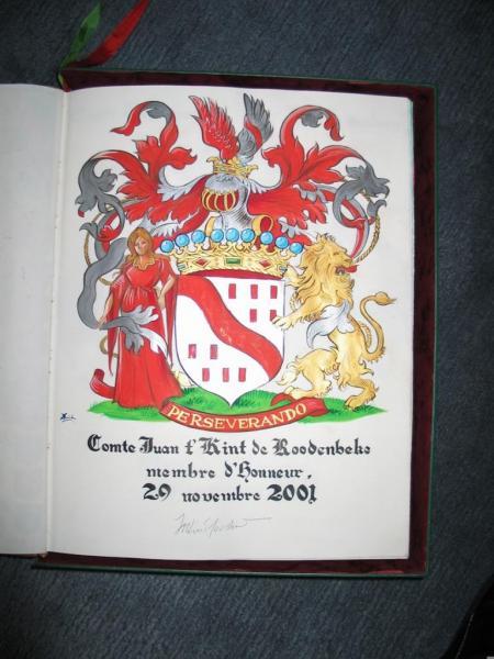 Comte Juan t'Kint de Roodenbeke Membre d'Honneur