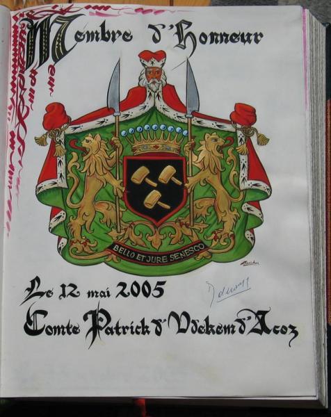 Comte Patrick d'Udekem d'Acoz Membre d'Honneur