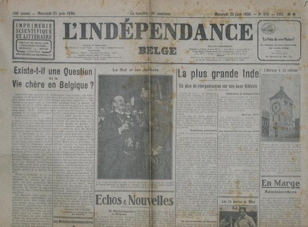 L'Indépendance Belge 1930