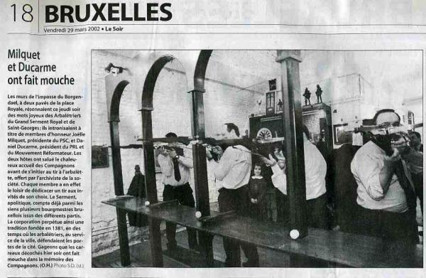 Milquet, Ducarme Le Soir 29 mars 2002)