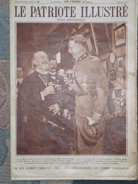 Patriote Illustré 29 juin 1930 Visite Roi Albert Ier