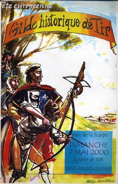 Affiche de la Fête Européenne des Gildes Historiques de Tir