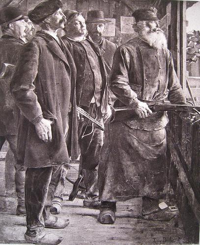 Tireurs à l'arbalète (1888) du peintre Jean-Eugène BULAND