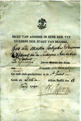 Lettre d'admission d'un Doyen au XVIIIe siècle