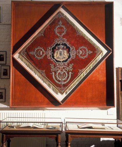 Bannière offerte en 1858 par le Prince Philippe, Comte de Flandre