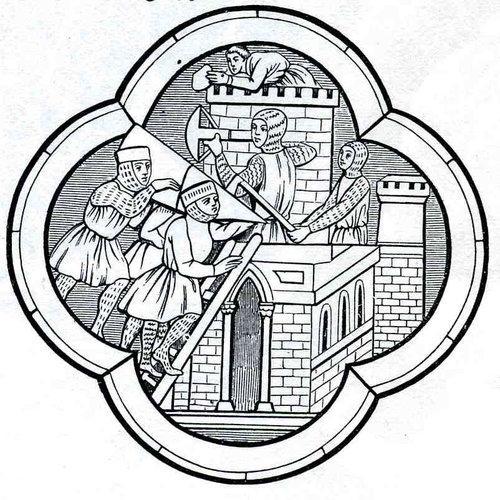 Chevaliers croisés (Arbalétrier devant la tour)