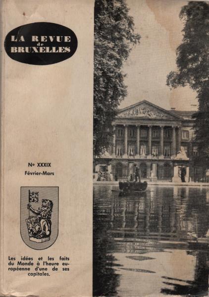 Revue de BXL 1961-N°XXXIX, Février-Mars 1961