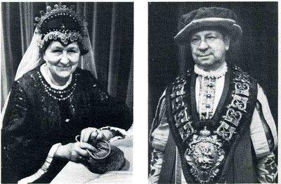 R. ROMBAUT, Roy du Grand Serment et sa femme