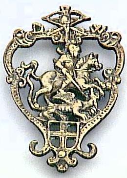 Saint-Georges et le dragon dans un cartouche