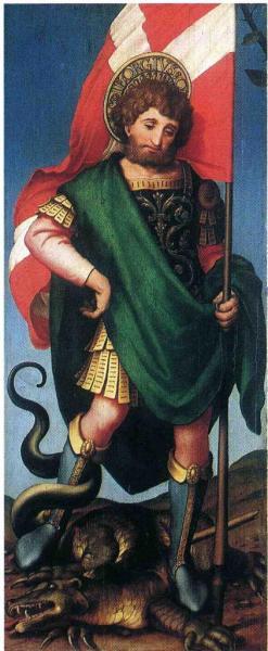 St-Georges et le dragon, Hans Holbein, Huile sur bois