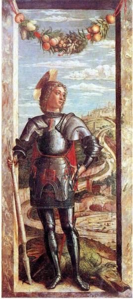 St-Georges et le dragon, Tempera sur bois