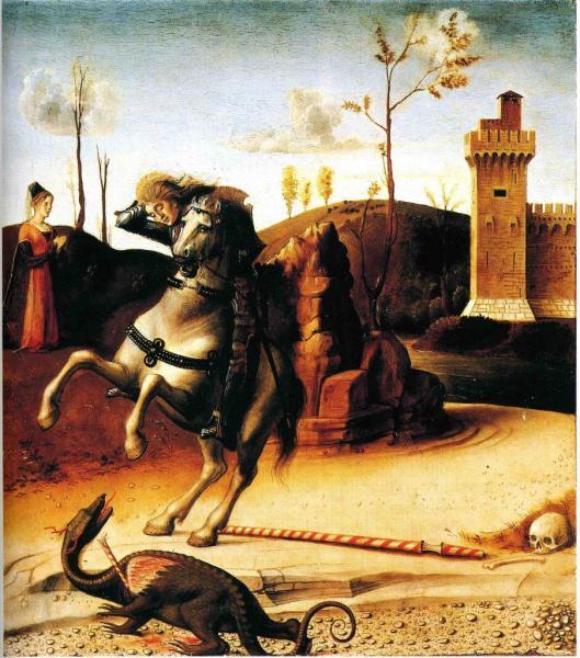 St-Georges et le dragon, Retable du couronnement de la Vierge