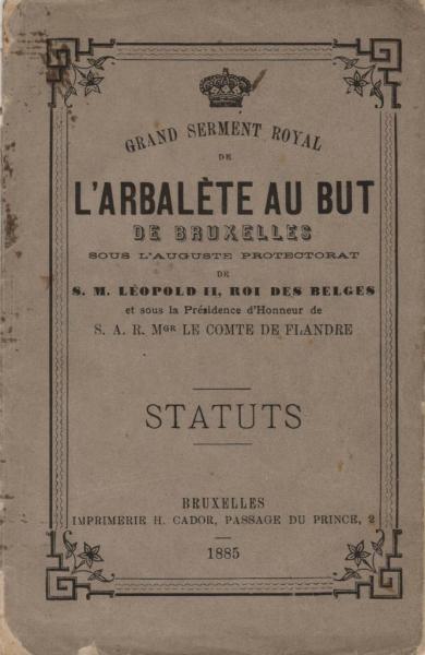Statuts -1885