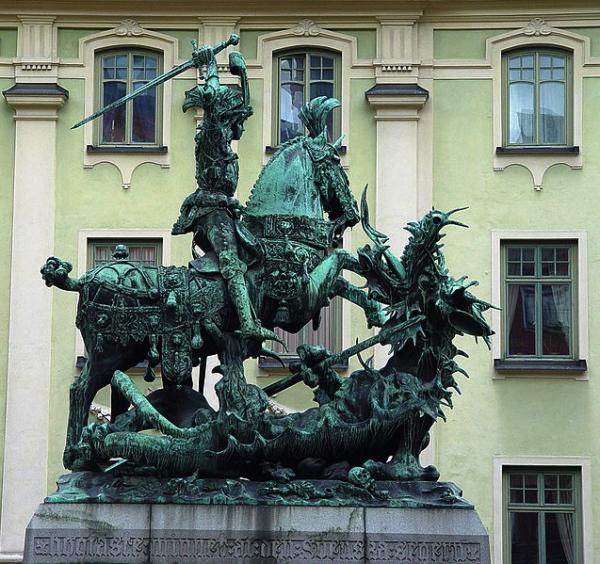 Saint-Georges en bronze