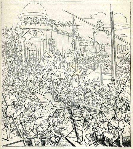 Seconde prise de Constantinople par les Croisés(1204)